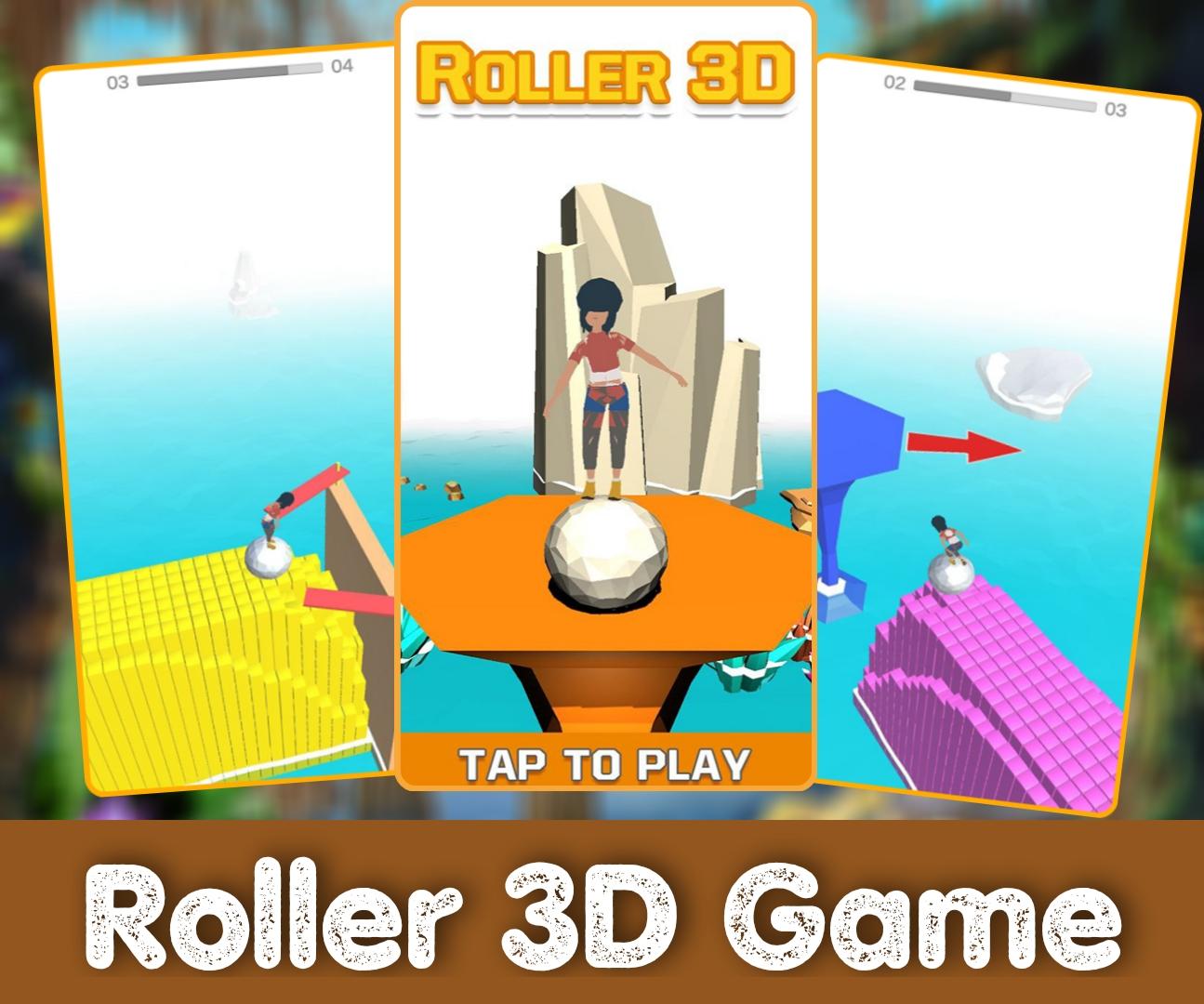 Roller 3D GAme jkard