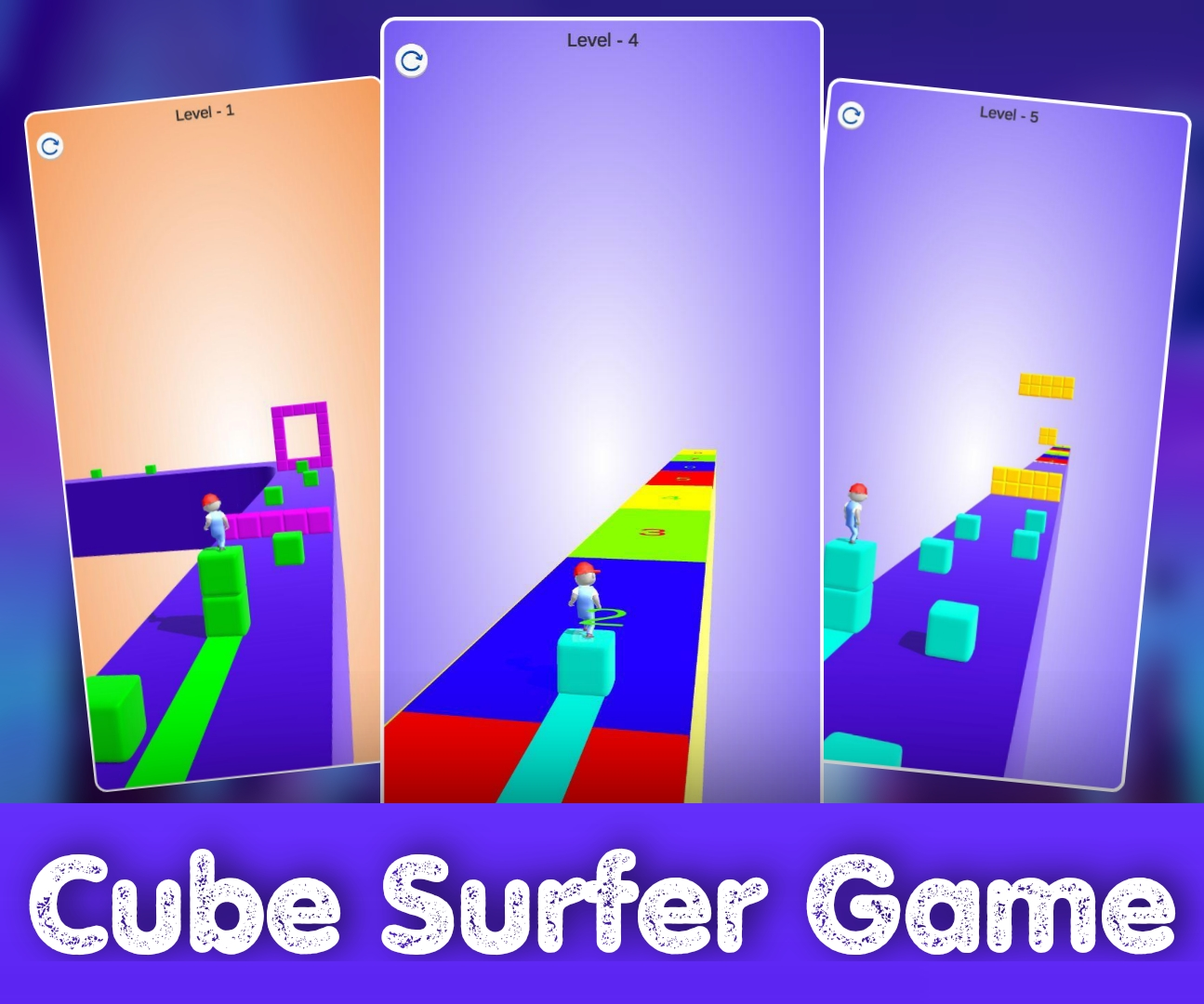 Cube surfer Game